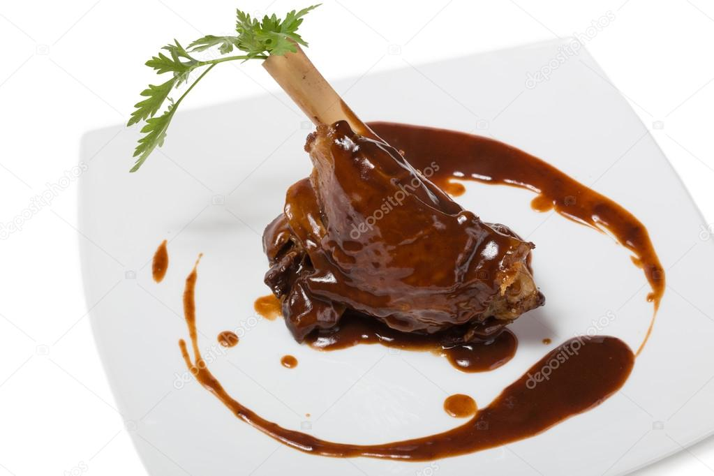 Braised leg of lamb — Stock Photo © Stas_K #33956929
