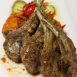 Постер, плакат: Grilled lamb loin and vegetable ratatouille