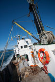 Fishing vessel is at sea — Stock Photo