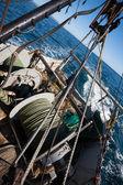 Barco de pesca la pesca de arrastre — Foto de Stock