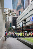 Security cameras in the city center in Singapore — Stock Photo