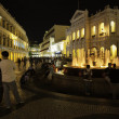 Tourists visit the Historic Center of Macao - Senado Square — Stock Photo