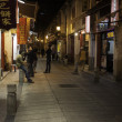 People walk in the old town in Macau — Foto Stock