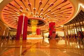 Brilliant fountain in Galaxy Macau casino — Stock Photo