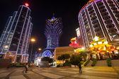 Bank of China and casino Grand Lisboa in Macau — 图库照片