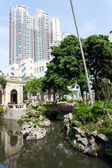 City park with a pond in Macau — Stock fotografie