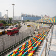 Track and spectator seats for Macau Grand Prix. — Stok Fotoğraf #38634663