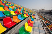Track and spectator seats for the Macau Grand Prix. — Stok fotoğraf