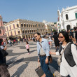 Stock Photo: tourists on the historic senado square in macau