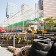 Safety barriers installed along for racing Macau Grand Prix — Stock Photo #38747049