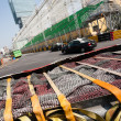 Safety barriers installed along for racing Macau Grand Prix — Stock Photo #38747075