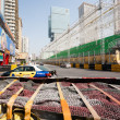 Safety barriers installed along for racing Macau Grand Prix — Stock Photo #38747077