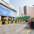 Safety barriers installed along for racing Macau Grand Prix — Stock Photo #38747175