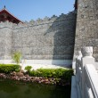 Stock Photo: Reconstructed part of old Chinese fortress