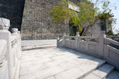 Reconstructed part of the old Chinese fortress — Stock Photo