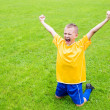 Excited boy football player — Stock Photo #43584849