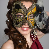 Woman in carnival mask  — Stock Photo