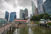 Promenadzie Marina bay singapore — Zdjęcie stockowe
