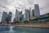 Singapore promenade view Central Business District  — Stock Photo
