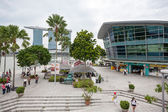 Main promenade in the heart of Singapore — Stock Photo