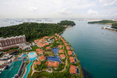 View of the island of Sentosa and Singapore  — Stock Photo