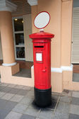 Classic old postbox on the street of the Singapore — Stock Photo