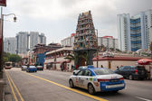 Hindu Temple in Chinatown district of Singapore — Stock Photo