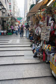 Pedestrian street in Hong Kong — Stock Photo