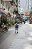 Narrow streets of Hong Kong — Stock Photo