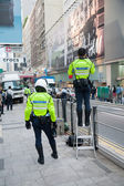 Police men in the streets of Hong Kong — Stock Photo