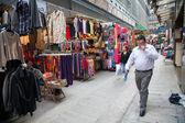 Trading pedestrian street in Central Hong Kong — Stock Photo