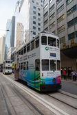 Trams in the streets of Hong Kong — Stockfoto