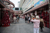 Decoration quay before the Christmas in Hong Kong — Stock Photo