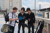Tourist from Europe in Osaka — Stock Photo