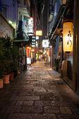 Narrow street in Osaka — Stock Photo