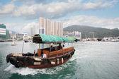 Fishing boat in Aberdeen harbor in Hong Kong — Stock Photo