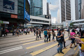 Pedestrians in Central district of Hong Kong — Stock fotografie