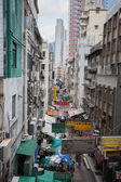 Narrow street in Hong Kong — Stock Photo