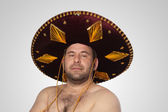 Man with sombrero — Stock Photo