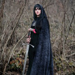 Medieval lady with sword — Stock Photo #13575019