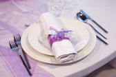 Detail of a wedding dinner — Stock Photo