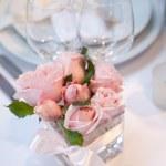 dettaglio di un pranzo di nozze — Foto Stock