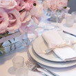 Foto Stock: Detail of a wedding dinner