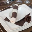 Stock Photo: Wedding dinner detail