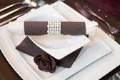 Wedding dinner detail — Stock Photo