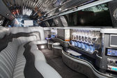 Luxurious limousine interior — Stock Photo