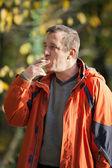 Man smoking — Foto Stock