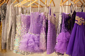 Glitter dresses in a store — Stock Photo