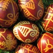 Royalty-Free Stock Photo: Croatian traditional easter eggs on green grass