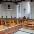 Modern chuch interior — Stock Photo